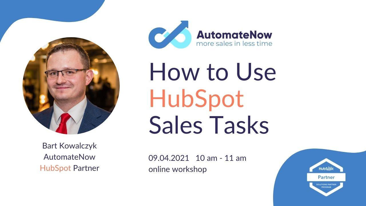 manage sales tasks in hubspot