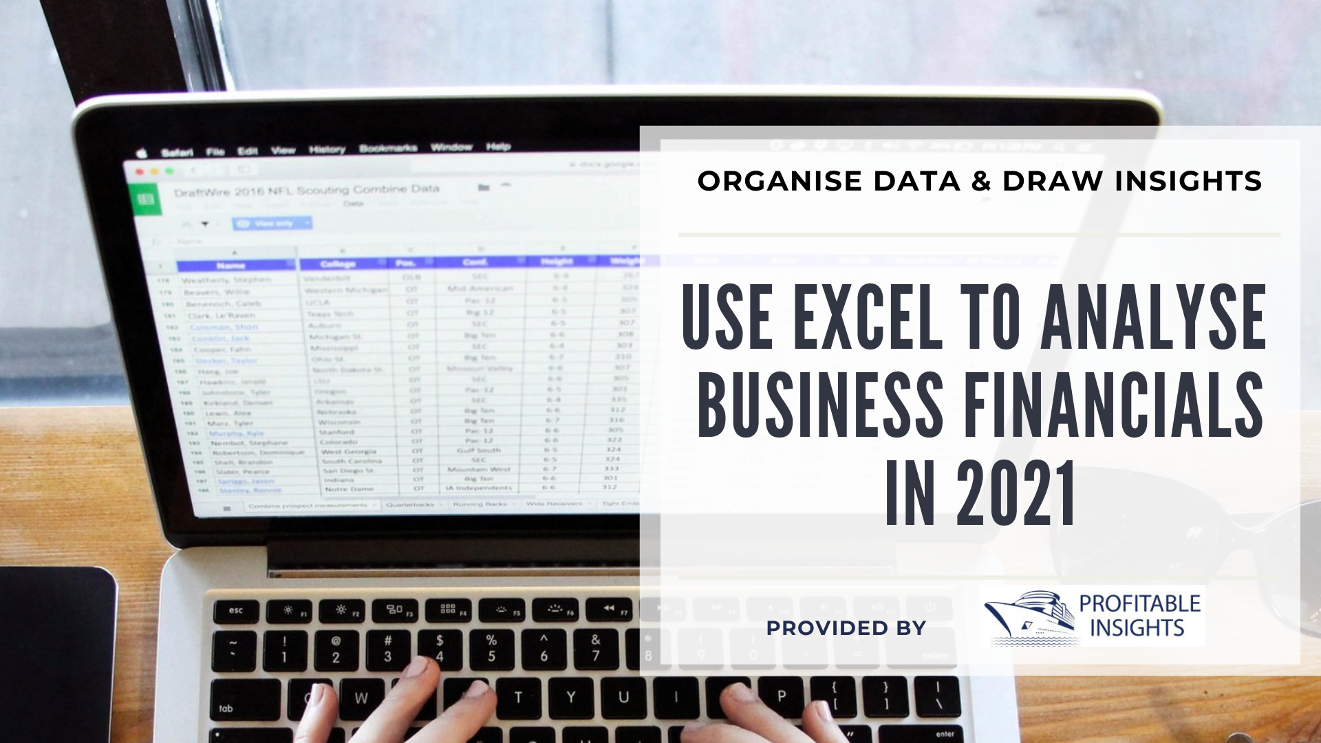 Use Excel to analyse your business financials